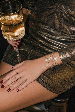 Boho Gold Rhinestone Bracelets - Bracelet Set