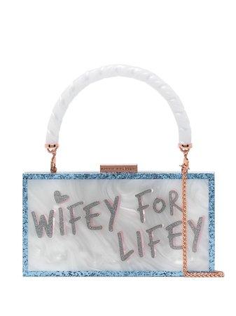 Sophia Webster Cleo Wifey For Lifey PVC Clutch - Farfetch