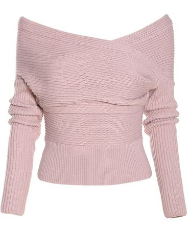 Off-The-Shoulder Sweater (Blush-Lilac)