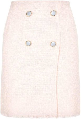 Forte Button Detail Boucle Skirt