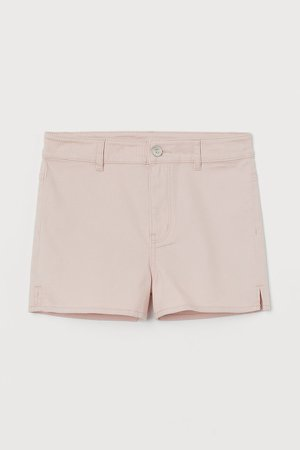 Twill Shorts High Waist - Pink