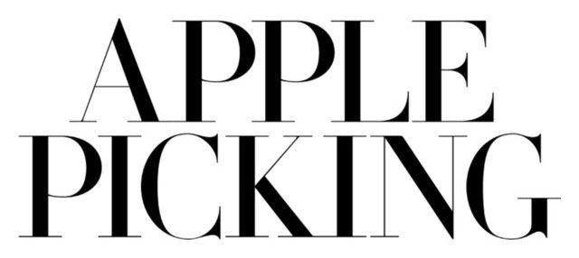 apple picking text