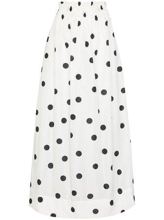 GANNI polka-dot Print Midi Skirt - Farfetch