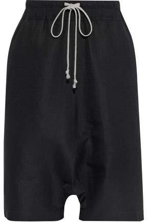 Textured Cotton And Silk-blend Shorts