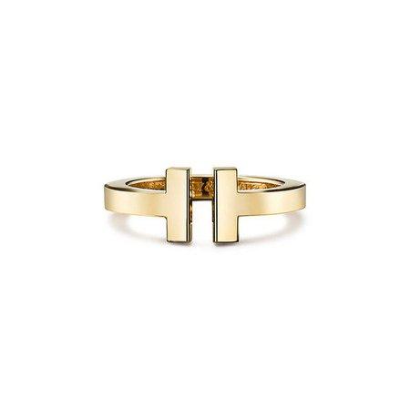 Tiffany T square ring in 18k gold. | Tiffany & Co.