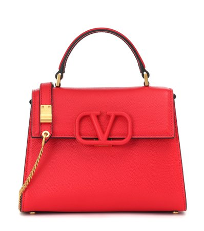 Valentino Garavani Vsling Leather Shoulder Bag