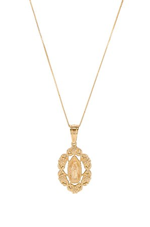 Rose Guadalupe Pendant Necklace