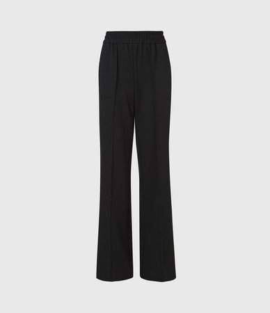 ALLSAINTS UK: Womens Millie High-Rise Relaxed Trousers (black)