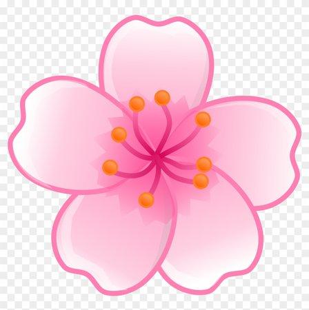 Japanese Clipart Japanese Flower - Sakura Flower Png - Free Transparent PNG Clipart Images Download
