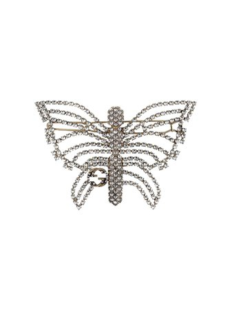 Gucci crystal-embellished Butterfly Hair Slide - Farfetch