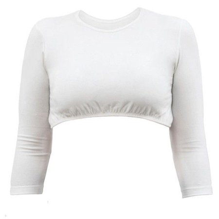 Kosher Casual Off-White Cropped ¾ Sleeve Shell Top ($25)