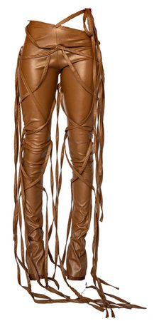 TLZFEMME - Cafe Vegan Leather Trousers