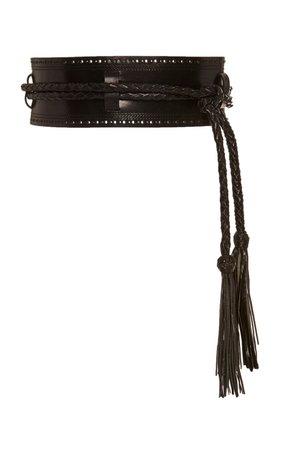 Tasseled Leather Belt by Carolina Herrera | Moda Operandi
