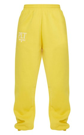 Plt Lemon Established Slogan Casual Joggers | PrettyLittleThing USA