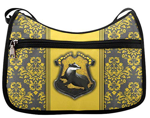 Amazon.com: Simple Classic Everyday Hobo Handbag Female Women Shoulder-to-Crossbody Hobo Bag Harry Potter Hufflepuff Pattern: Shoes