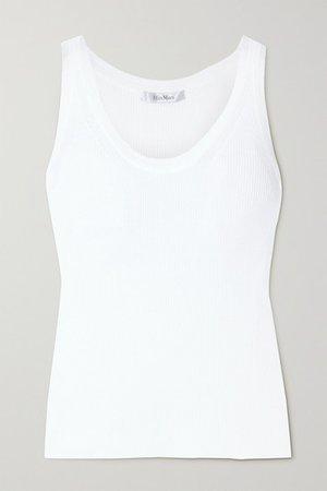 Zadar Ribbed-knit Tank - White