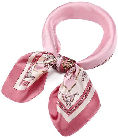 Satin Silk Scarves for Women and Girls, Premium Summer Square Neck Scarf, Ladies Head Hair Scarf and Wraps at Amazon Women's Clothing store