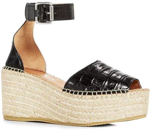 Luz Platform Wedge Espadrille Sandal