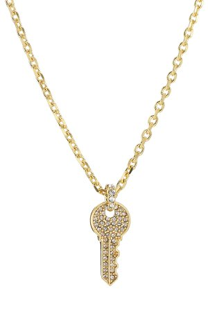 Embellished Key Necklace Gr. One Size