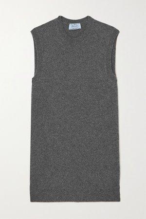 Gray Cashmere-blend tank | Prada | NET-A-PORTER