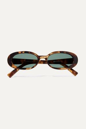 Le Specs | Outta Love oval-frame tortoiseshell acetate sunglasses | NET-A-PORTER.COM