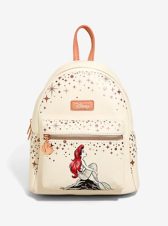 Loungefly Disney The Little Mermaid Ariel Rose Gold Mini Backpack