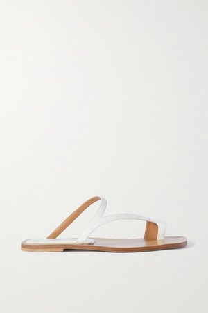 Donna Leather Sandals - White