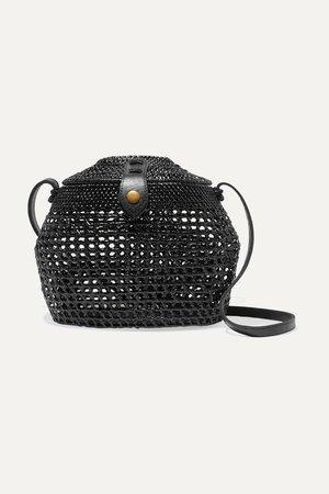 Faithfull The Brand | Paloma woven shoulder bag | NET-A-PORTER.COM