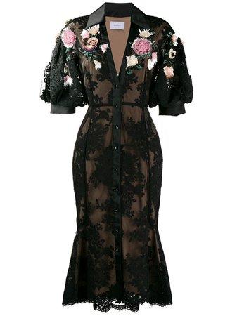Marchesa, Floral Applique Dress
