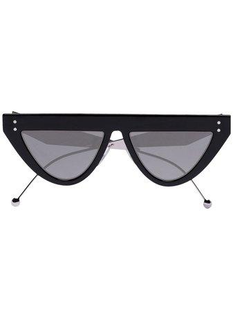 Fendi Eyewear Defender Flat Brow Sunglasses | Farfetch.com