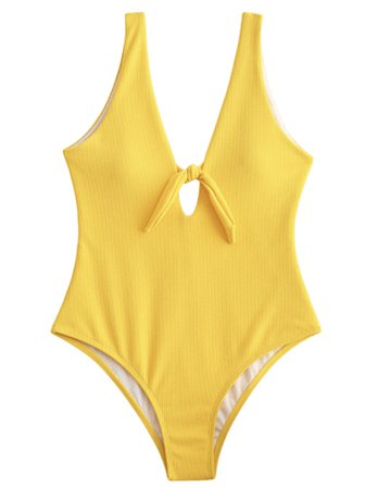 yellow swimsuit swimwear bikini