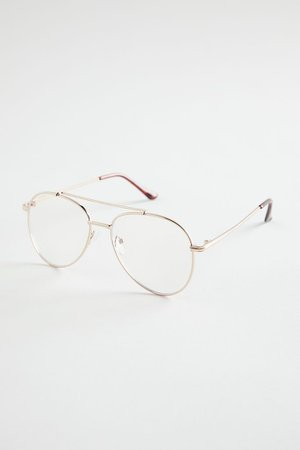 Sharon Aviator Blue Light Glasses | Urban Outfitters