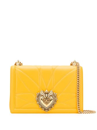 Shop yellow Dolce & Gabbana Devotion shoulder bag with Express Delivery - Farfetch