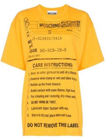 Moschino Oversized Care label-print T-shirt - Farfetch