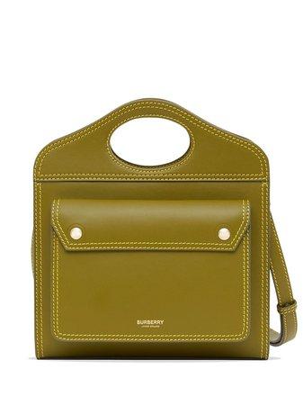 Burberry Mini Pocket Topstitched Tote Bag - Farfetch