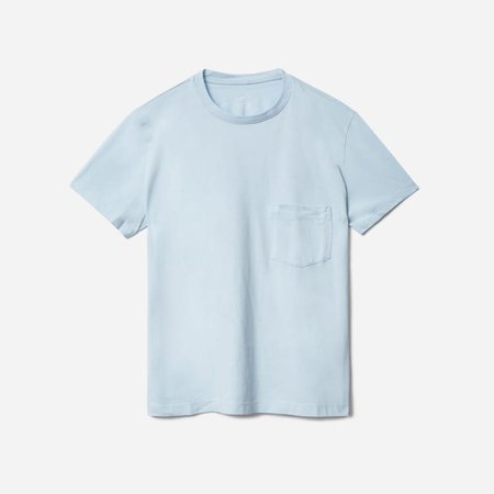 Women's Organic Cotton Box-Cut Pocket Tee | Everlane blue