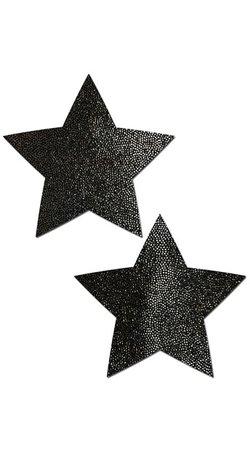 Star Reusable Nipple Pasties, Black Star Pasties - Yandy.com