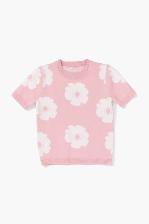 Girls Floral Sweater-Knit Top (Kids)