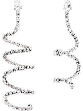 AREA Crystal Spiral Earrings - Farfetch