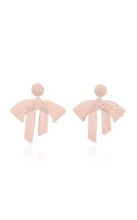 Drape Beaded Drop Earrings by Oscar de la Renta | Moda Operandi