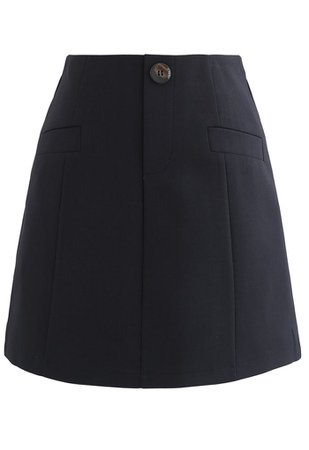 Pocket Embellishment Bud Skirt in Black - Retro, Indie and Unique Fashion