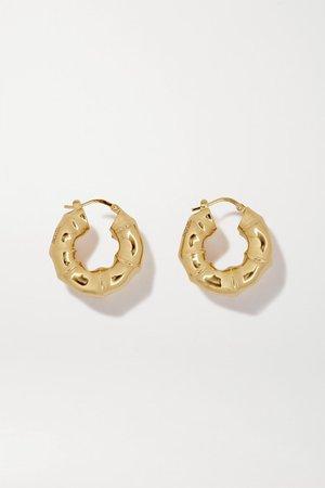 Bottega Veneta | Gold-tone hoop earrings | NET-A-PORTER.COM