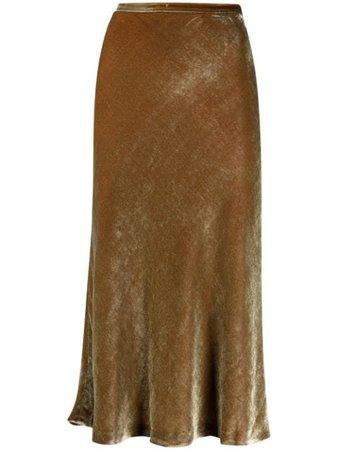 Maison Margiela four-stitch velvet skirt - FARFETCH