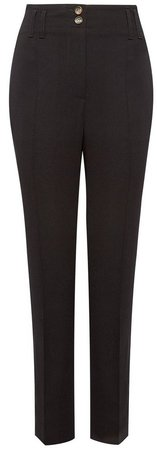 Black Tapered Tailored Trousers