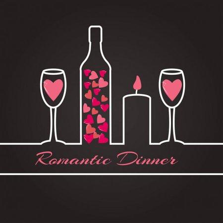 ᐈ Romantic dinner clip art stock vectors, Royalty Free romantic dinner illustrations | download on Depositphotos®