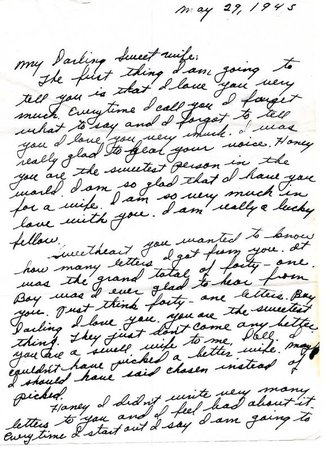 Osage Bluff Quilter: World War II love letter | Letters-Words of
