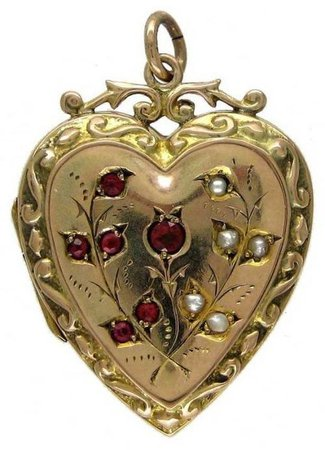 gold heart locket png