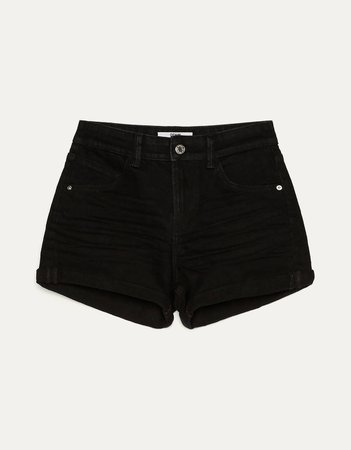 Denim shorts with rolled-up hems - Best Sellers - Bershka United States