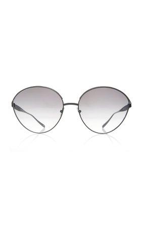 Alaia Sunglasses Le Petale Round-Frame Metal Sunglasses