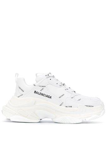 Balenciaga all-over Logo Triple S Sneakers - Farfetch